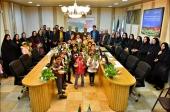 حضور دانش آموزان مدرسه موسسه آموزشی فرهنگی محمد امین درکمیسیون فرهنگی