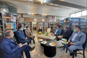 بازدید از کتابخانه زهرائیه